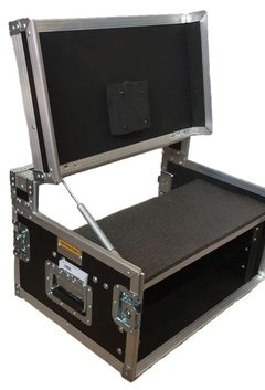 Case rack 4u + monitor com rodas