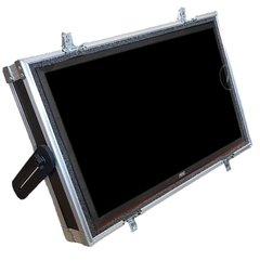 Flight case para Monitor palco 24 Pol. TP inclinacao ajustavel