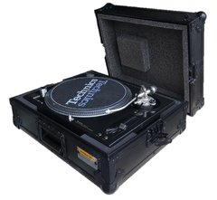 Flight case para technics mk2 Black