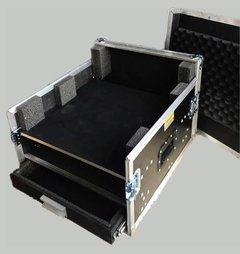 Road Case Rack P/ 01v + 2u  E Gaveta