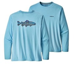 REMERA PATAGONIA GRAPHIC TECH FISH