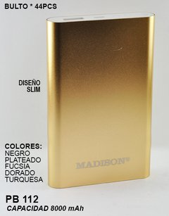 Power Bank Madison 8.000 MAH - PB 112