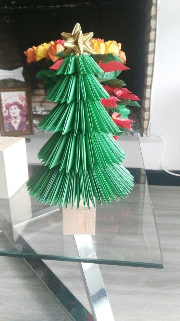Arbol de navidad de origami - Arbol de navidad origami ...