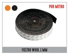 "FIELTRO ADHESIVO WOOL ""POR METRO"" 1MM"