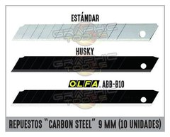"REPUESTOS ""CARBON STEEL"" 9MM (PACK 10 UNIDADES)"