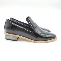 Mocasines Brooklyn charol negro en internet