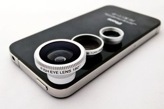 Kit De 3 Lentes Fisheye Macro E Wideangle P/ Iphone E Outros