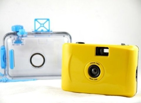 Lomo Aquapix Yellow Camera Aquática Analógica De Filme 35mm - Camerama