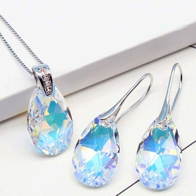 07601768dbf7 Cristal y Seda   Set 2 piezas joya Swarovski Elements