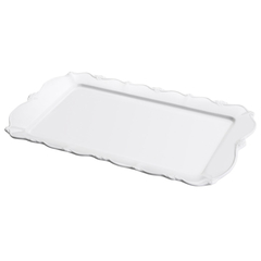 TRAVESSA PORCELANA FANCY BRANCO 36x22x3cm - comprar online