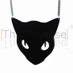 Colar Acrylic Black Cat Simple