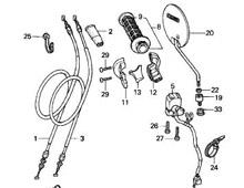 Palancas Cables Interruptores