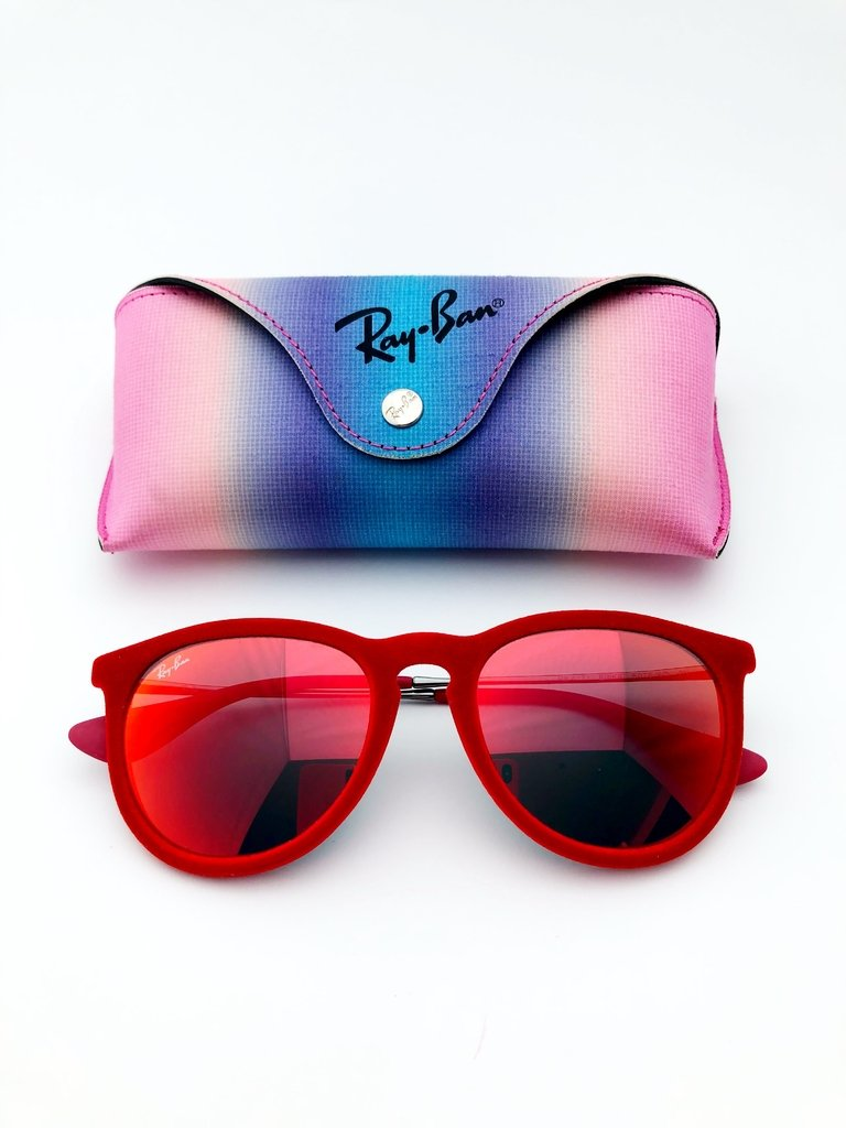 Ray Ban RB 4171 ERIKA - Óculos de Sol de Veludo Vermelho - 390ad8732f
