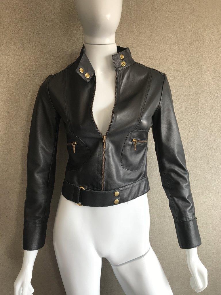 f19d4e2d5 Jaqueta de couro legítimo - feita com alfaiate - Tam PP