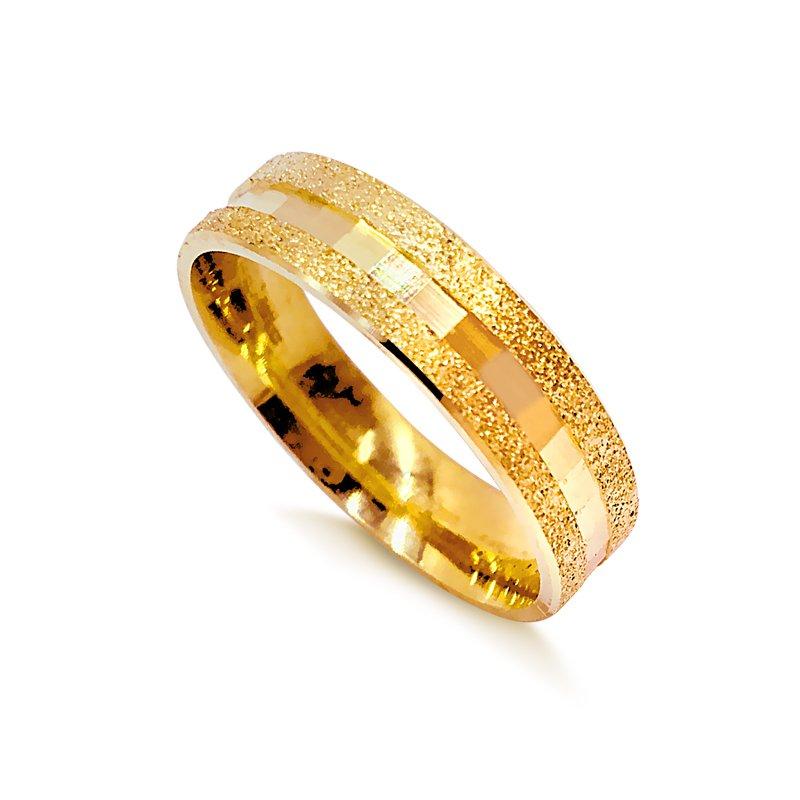 66888e97aba Aliança Ouro 18K Chata Sextavada 1003
