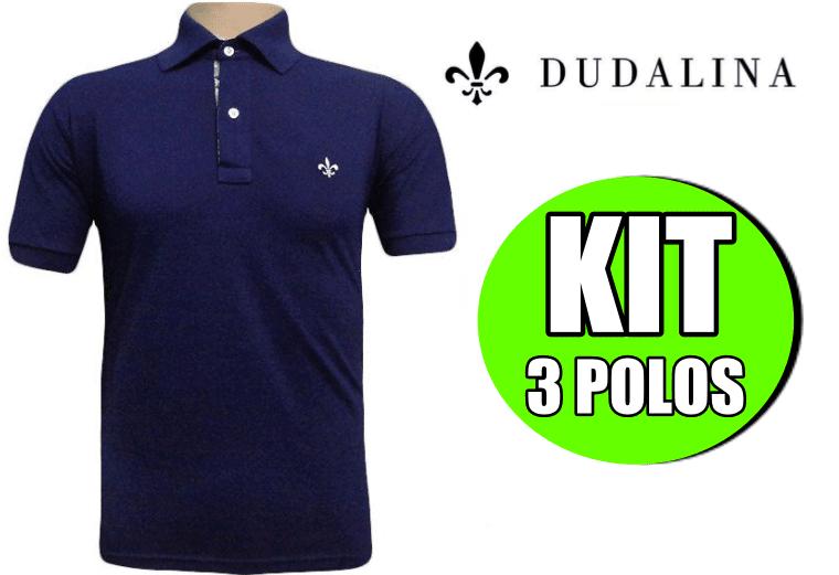 f4ab6215b2 KIT 03 Camiseta polo - Dudalina (100% Piquet - Cores variadas)
