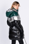 Campera Puffer LARGA metalizada  90500620213