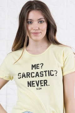 Remera - Me? Sarcastic? Never - 906081420 on internet