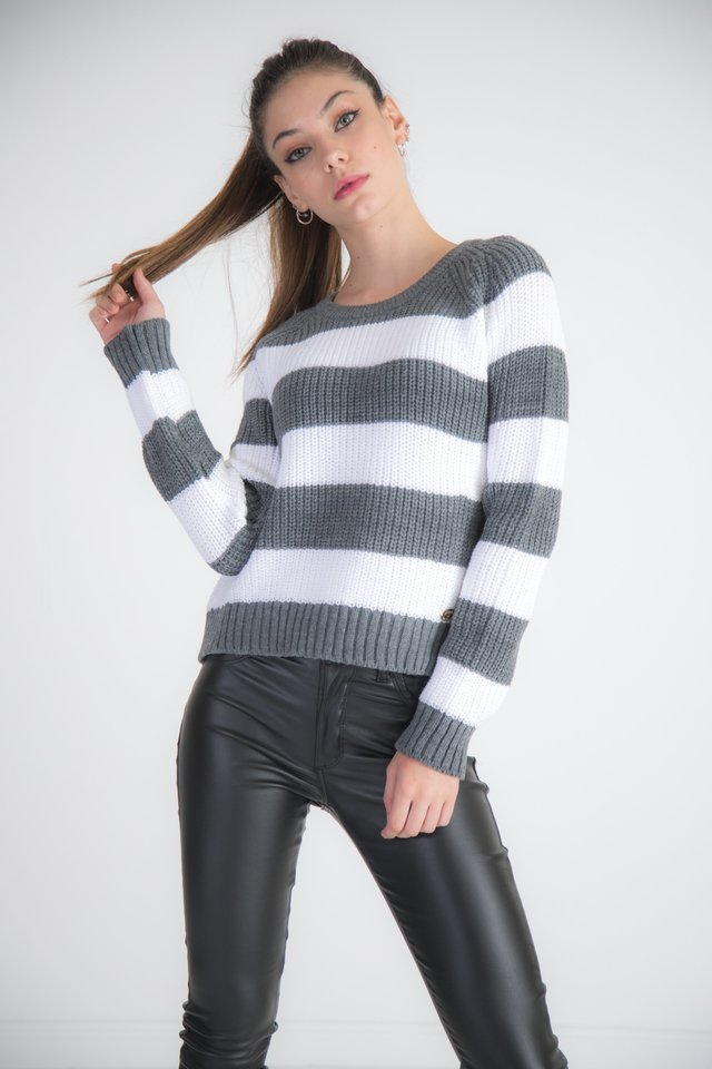 Sweater Rayado Corto 2110 en internet