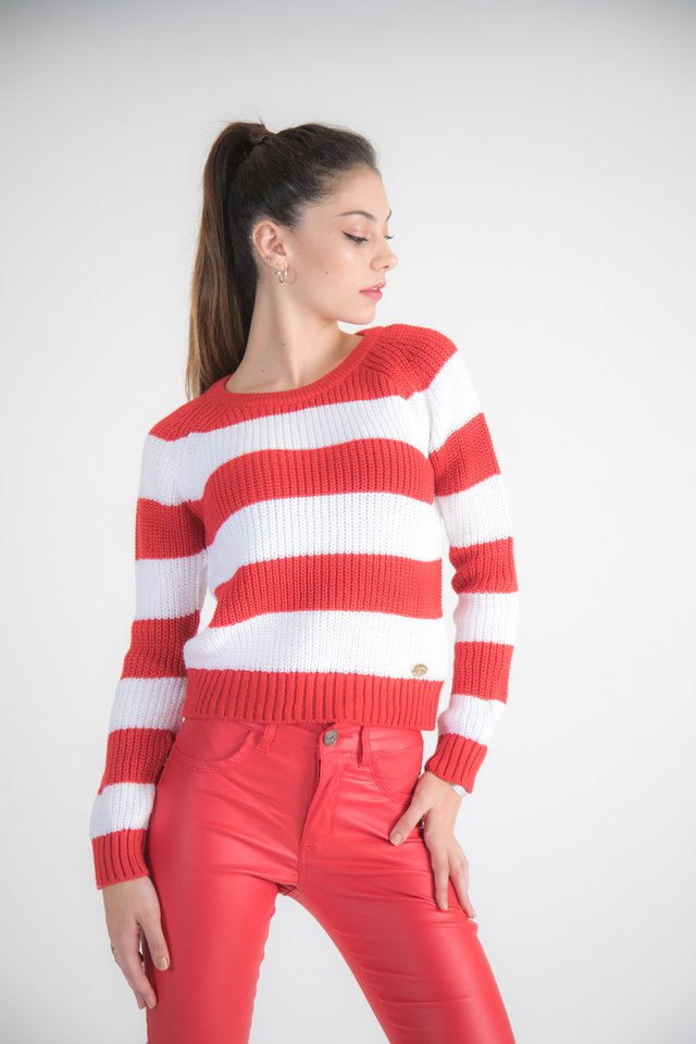 Sweater Rayado Corto 2110
