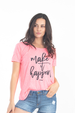 Remera Make it happen tira en espalda - buy online