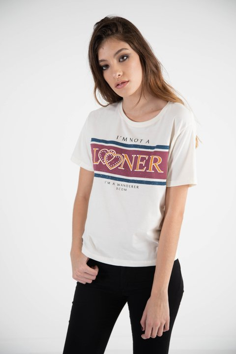 remera im not a loner, jersey de algodon en internet