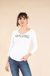 Remera escote V MISSING 9061019004