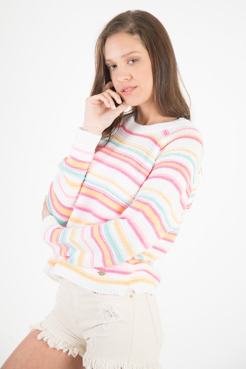 Sweater rayado multicolor 90250123