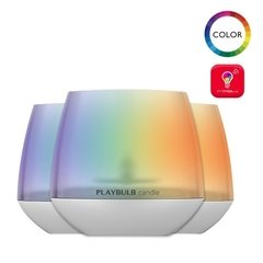 3 Lámparas Vela Aromatizantes Led Playbulb Bluetooth
