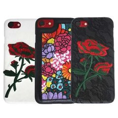 Funda Flores Bordadas iPhone 6 7 Plus