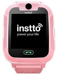 Smart Watch De Niños Seguridad Botón Sos Color Rosa