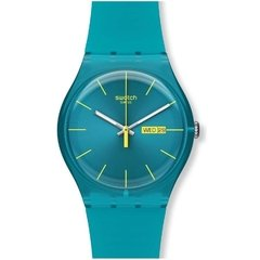 Reloj swatch suol700 turquoise rebel