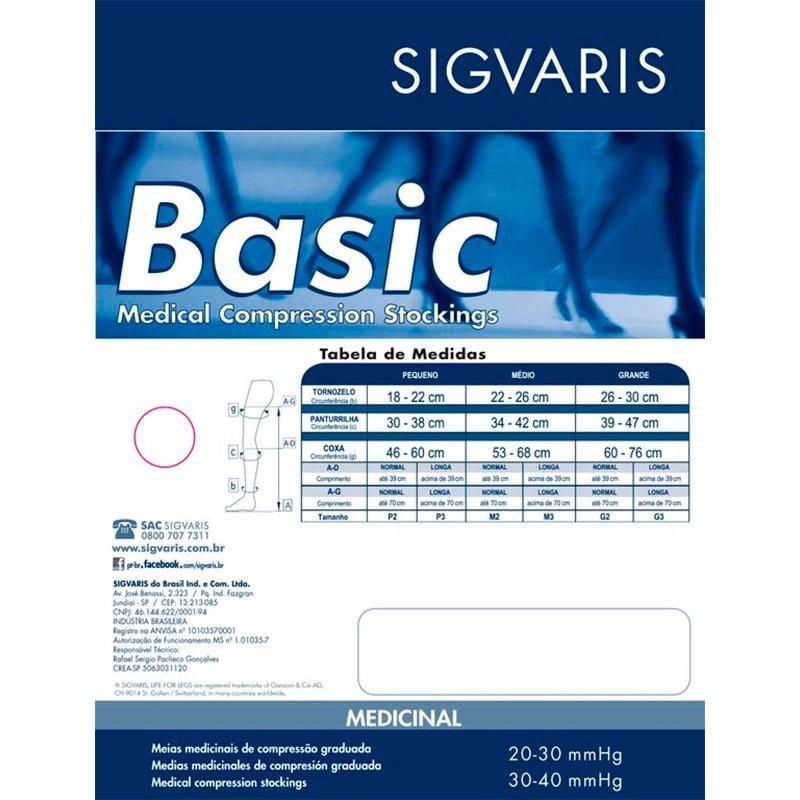 74d28f13d MEIA DE COMPRESSÃO SIGVARIS BASIC 7 8 20-30MMHG COR BEGE