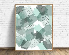 CUADRO ABSTRACT STAINS GREEN
