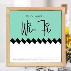 CUADRO ALL YOU NEED IS WIFI - tienda online