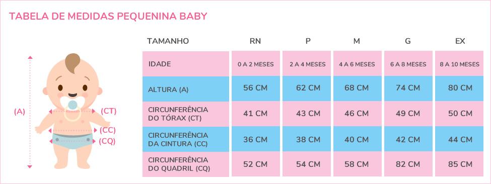 Tabela de Medidas | Moda Infantil para Bebês