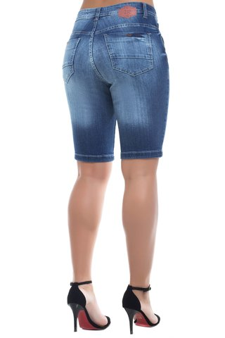 Bermuda Jeans Mid Rise Midlle Plus Z-32 Azul na internet