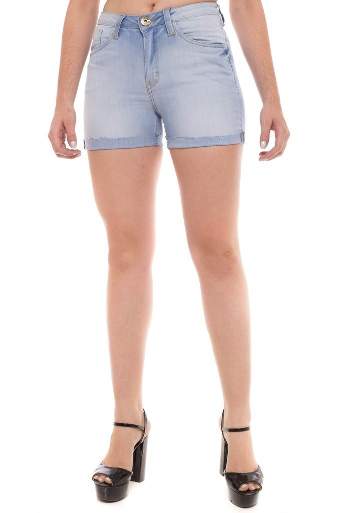 Shorts Z-32 Mid Rise Angie Plus Azul