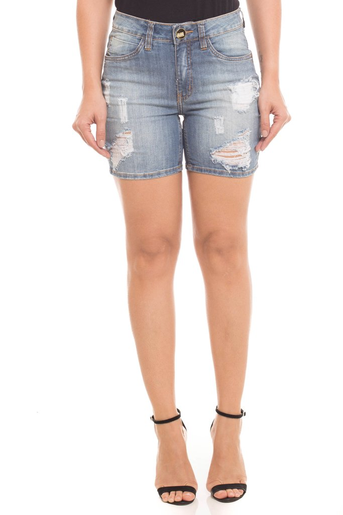Shorts Jeans Z-32 Mid Rise Middle Azul