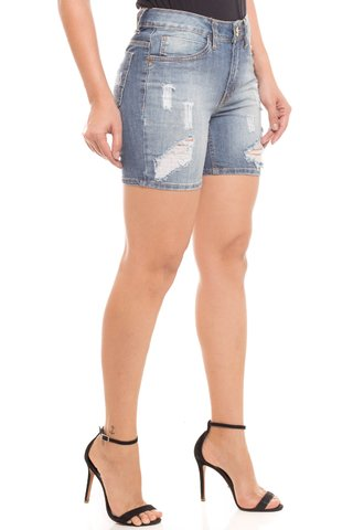 Shorts Jeans Z-32 Mid Rise Middle Azul - comprar online