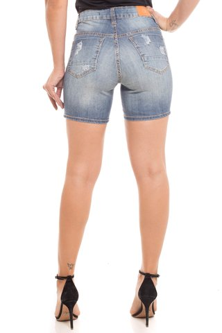 Shorts Jeans Z-32 Mid Rise Middle Azul na internet