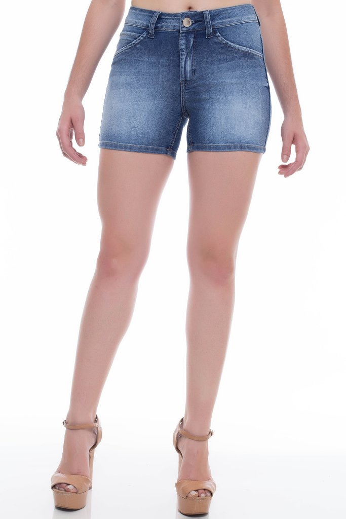 Shorts Jeans Z-32 Mid Rise Angie Lus Azul