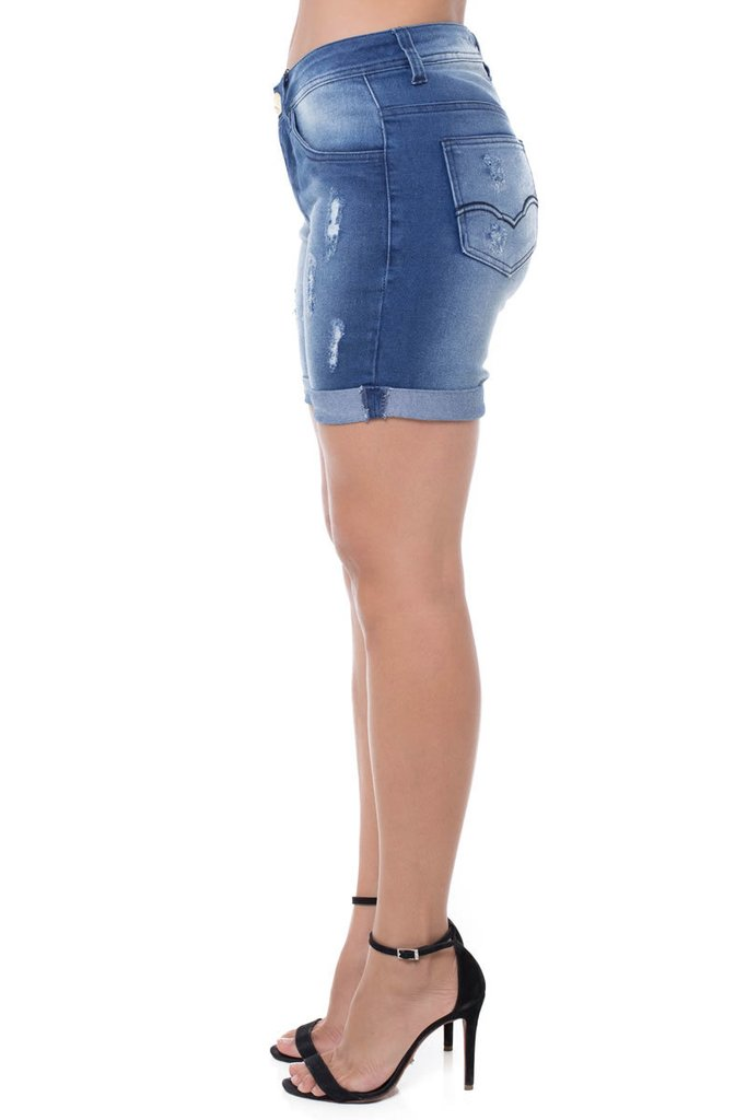 Shorts Jeans Mid Rise Middle Z-32 Azul