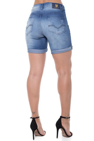 Shorts Jeans Mid Rise Middle Z-32 Azul na internet