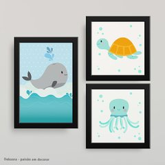 Fundo do Mar little - Kit quadros - comprar online