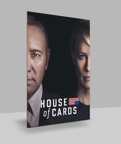 Placa Decorativa Séries - House of cards