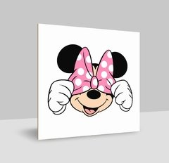 plaquinhas decorativa Minnie Rosa