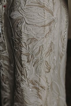 Imagen de Off White & Golden Garden Wedding Dress