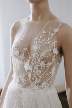 Nude Garden Wedding Dress