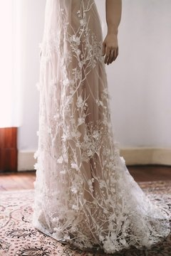 Nude Garden Wedding Dress - Carlos II Molina